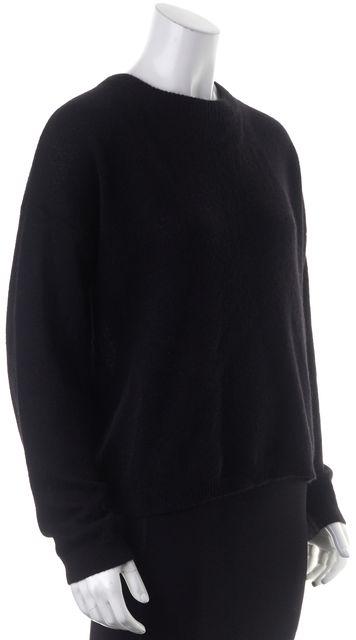 360CASHMERE Black Cashmere Adina Crewneck Sweater
