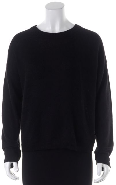 360CASHMERE Black Cashmere Adina Criss Cross Back Crewneck Sweater