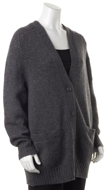360CASHMERE Gray Wool Cashmere Blend Long Cardigan