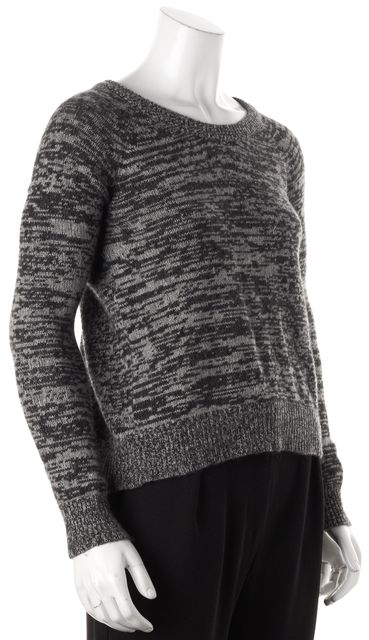 360CASHMERE Gray Wool Cashmere Knit Crewneck Sweater