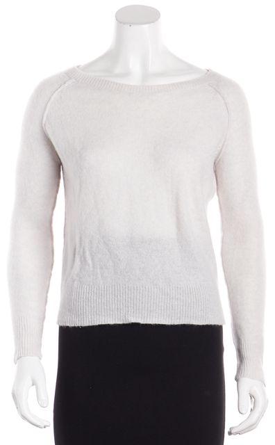 360CASHMERE Light Gray Graphic 'Love Life' Crewneck Sweater