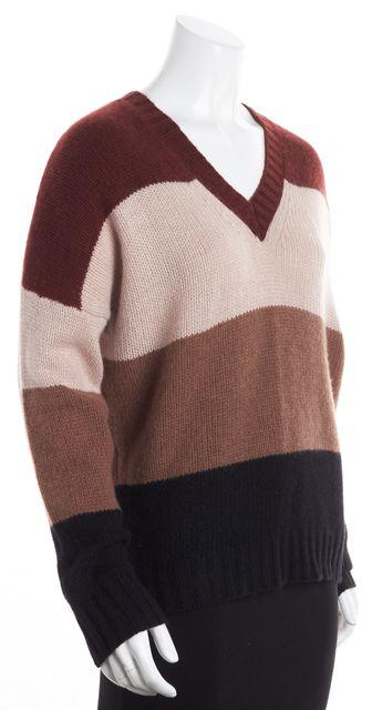 360CASHMERE Multi-color Colorblock Cashmere V-Neck Sweater
