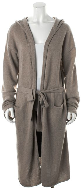 360CASHMERE Beige Cashmere Hooded Sweater