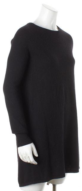 360CASHMERE Black Cashmere Crewneck Sweater