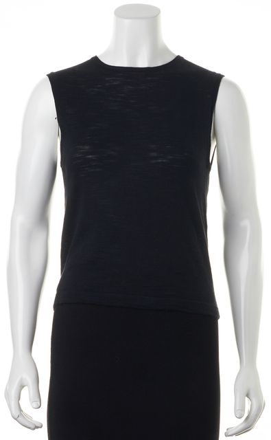 360 SWEATER Black Serena Crewneck Sleeveless Knit Top