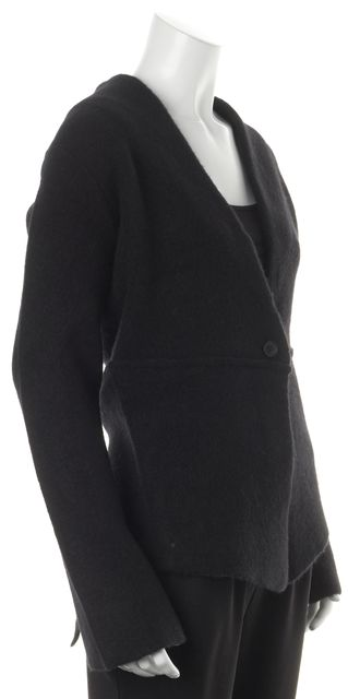 360 SWEATER Black Wool Lilith Single Button Basic Jacket