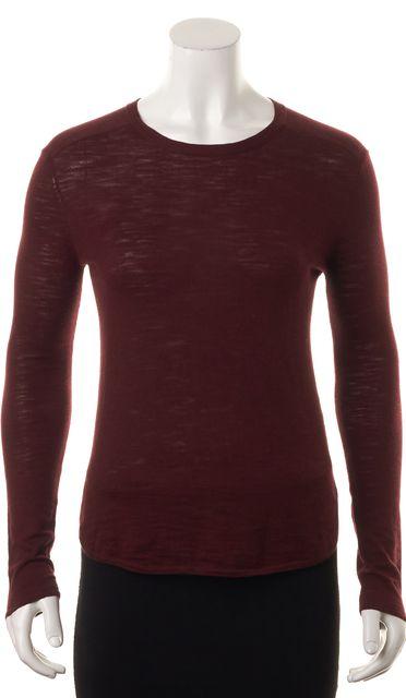 360 SWEATER Burgundy Red Leta Crewneck Sweater