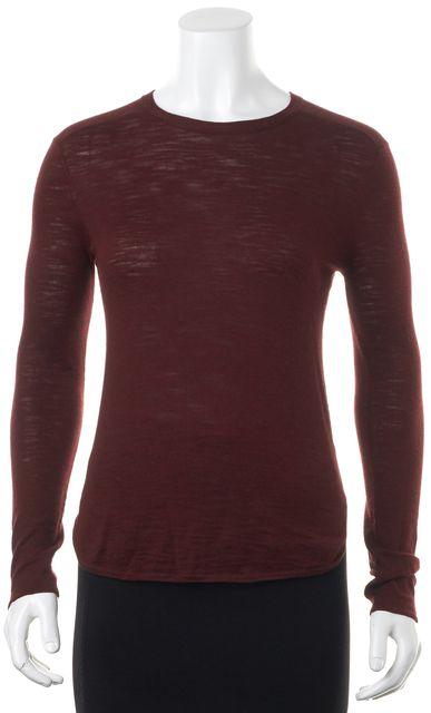 360 SWEATER Burgundy Red Crewneck Sweater