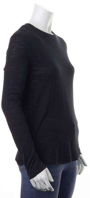 360 SWEATER Black Leta Long Sleeve Crewneck Sweater