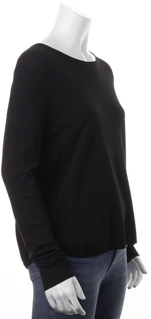 360 SWEATER Black Long Sleeve Light Crewneck Sweater