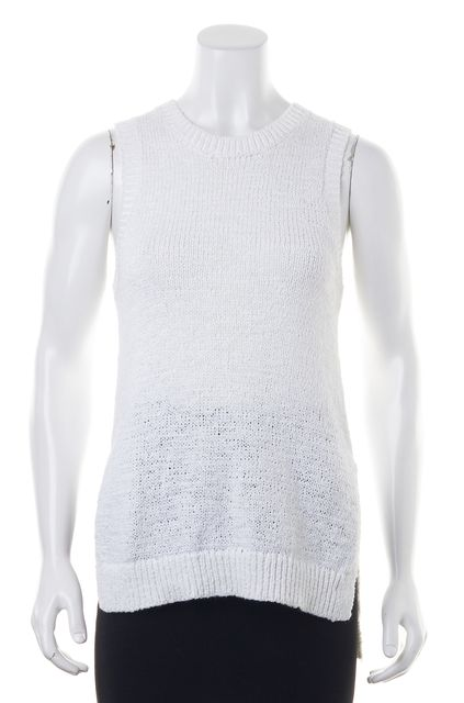 360 SWEATER White Knit Top