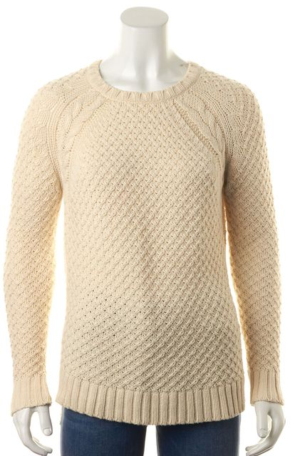 360 SWEATER Ivory Chunky Crewneck Sweater