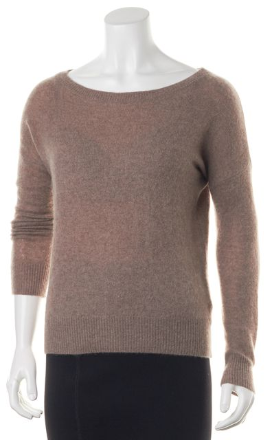 360 SWEATER Mauve Pink Cashmere Knit Crewneck Sweater