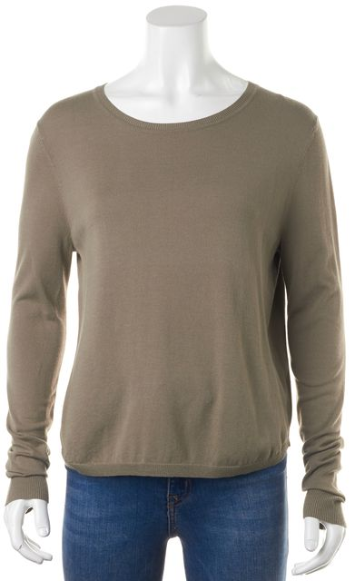 360 SWEATER Beige Long Sleeve Relaxed Fit Knit Top