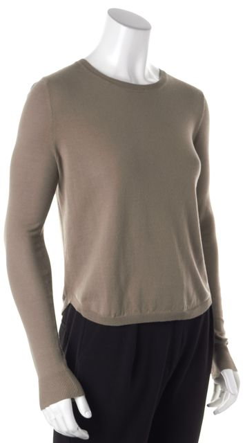 360 SWEATER Brown Crewneck Long Sleeve Knit Top