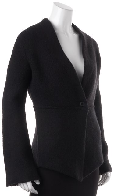 360 SWEATER Black Wool Lilith One Button Cardigan Sweater