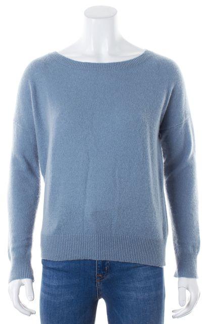 360 SWEATER Pale Blue Cashmere Crewneck Sweater