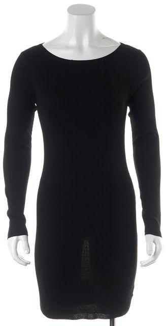 SKULL CASHMERE Black Stretch Knit Back Cutouts Karah Sheath Dress