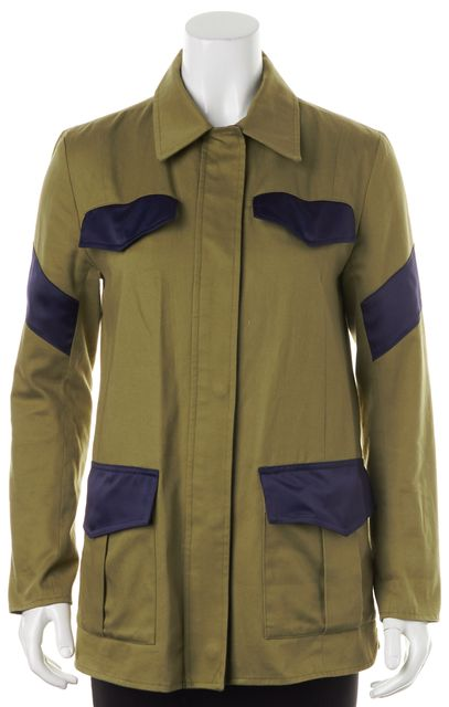 VEDA X MAN REPELLER Army Green Blue Basic Jacket