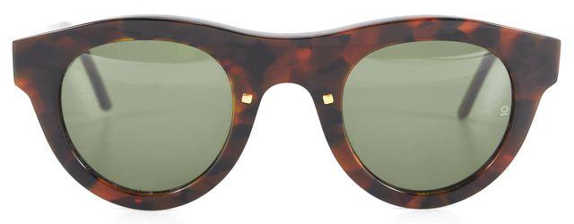 OSKLEN Brown Tortoise Shell Ipanema V Round Sunglasses w Case