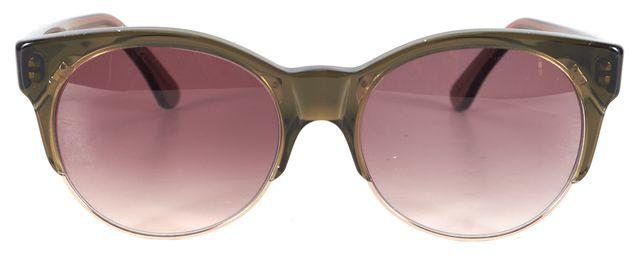 ZIMMERMANN X CUTLER AND GROSS Green Brown Acetate York Cat Eye Sunglasses