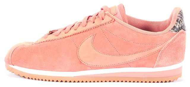 NIKE A.L.C. Pink Gray Suede Snake Classic Cortez A.L.C. Sneakers