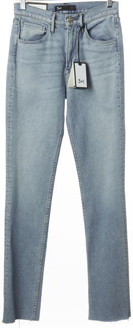 3X1 Blue Willow Light Wash DIY Straight Leg Slim Jeans