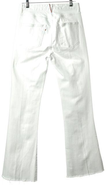 3X1 White Casual Slim Fit Boot Cut Flare Leg Classic Mid-Rise Stretch Jean