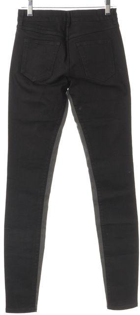 3X1 Black Gray Trim Skinny Jeans