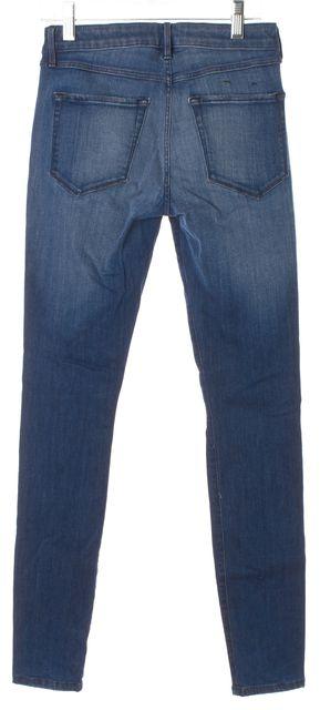 3X1 Crete Blue Stretch Cotton Distressed Denim Skinny Jeans