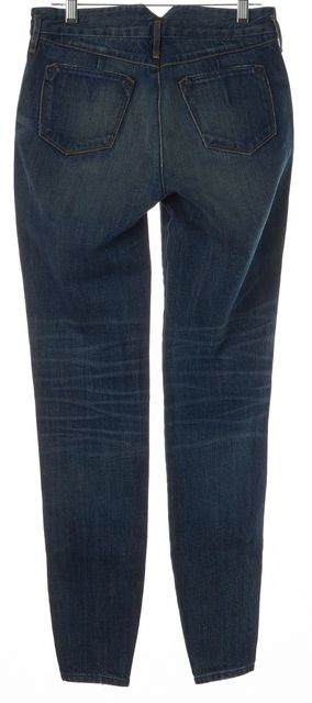 3X1 Blue Ankle Zipped 100% Cotton Whiskered Skinny Jeans