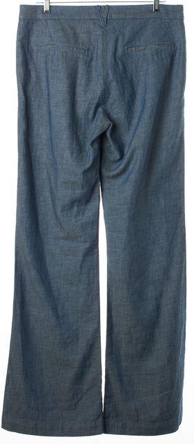 3X1 Blue Morton High Rise Wide Leg Trouser Dress Pants