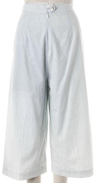 3X1 Penn Blue Cotton Chambray Gaucho Cropped Pants
