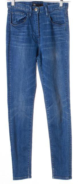 3X1 Blue Whiskered Hight Waist Skinny Jeans