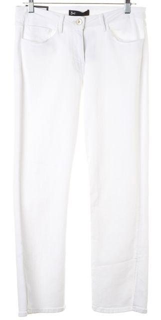 3X1 Aspro White Stretch Cotton Split Bell Cropped Jeans