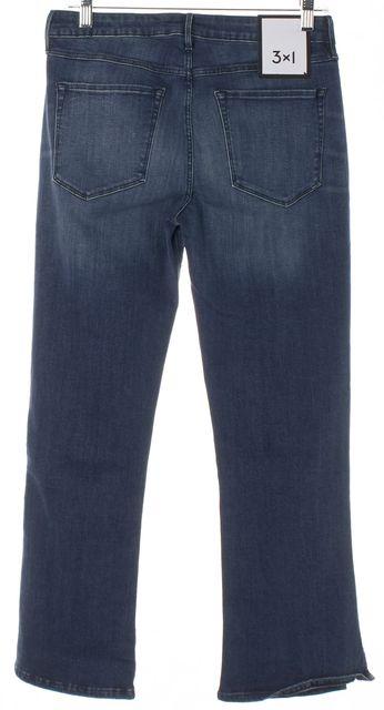 3X1 Stanley Blue Split Bell Crop Flare Jeans