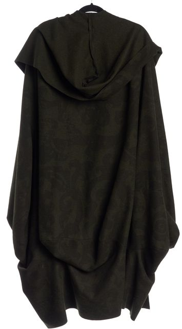 VIVIENNE WESTWOOD Green Ornate Wool Unisex Stole Coat