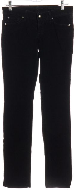 7 FOR ALL MANKIND Black Corduroy Skinny Jeans