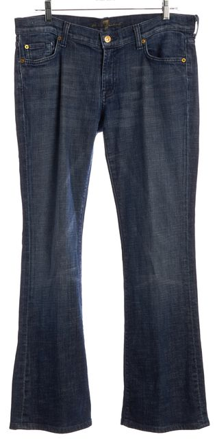 7 FOR ALL MANKIND Blue Medium Wash Flare Jeans Fits Like a 30