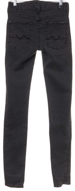 7 FOR ALL MANKIND Gray Stonewash Skinny Jeans
