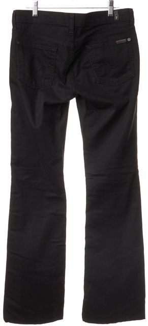 7 FOR ALL MANKIND Black Wide Leg Jeans