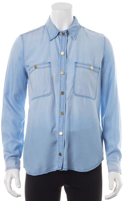 7 FOR ALL MANKIND Blue Button Down Western Shirt
