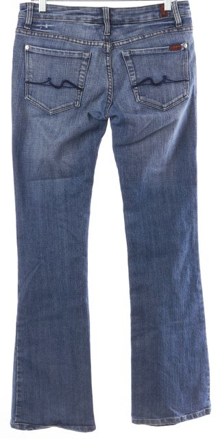 7 FOR ALL MANKIND Blue Boot Cut Casual Slim Fit Flare Leg Classic Jeans