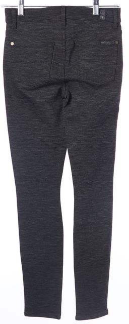 7 FOR ALL MANKIND Charcoal Gray Pocket Front Casual Pant Leggings