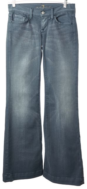 7 FOR ALL MANKIND Blue Lowrise Ginger Flare Jeans