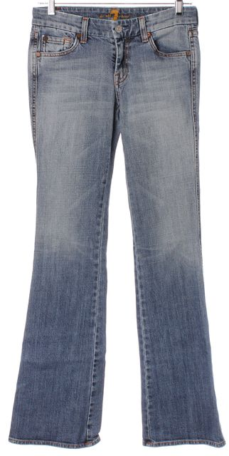 7 FOR ALL MANKIND Blue A Pocket Casual Slim Fit Boot Cut Jeans