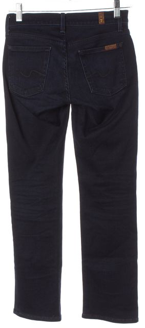 7 FOR ALL MANKIND Petite Blue The Lexie Straight Leg Jeans