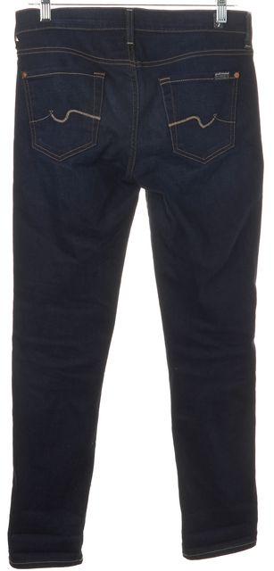 7 FOR ALL MANKIND Blue Stretch Cotton Josefina Skinny Boyfriend Jeans