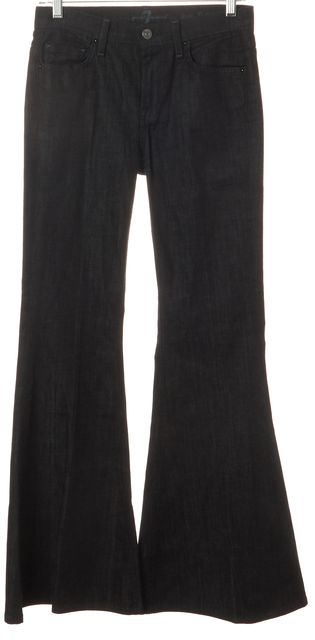 7 FOR ALL MANKIND Blue The Lexie Petite Bell-Bottom Flare Jeans