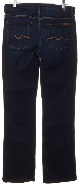 7 FOR ALL MANKIND Blue Dark Was Stretch Denim Kimmie Boot Cut Jeans